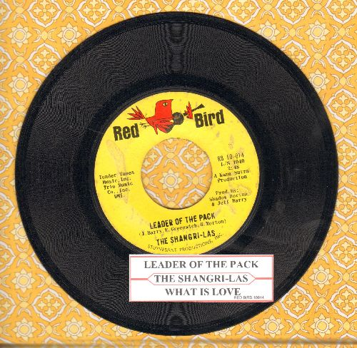 Shangri-Las - Leader Of The Pack/What Is Love (FANTASTIC over-looked flip-side!)  (with juke box label) - EX8/ - 45 rpm Records