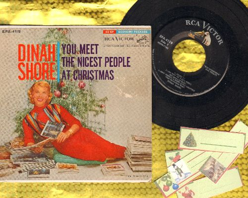 Shore, Dinah - You Meet The Nicest People At Christmas Time/Have Yourself A Merry Little Christmas/Christmas Party/Happy Christmas Little Friend (vinyl EP record with picture cover) - NM9/VG7 - 45 rpm Records