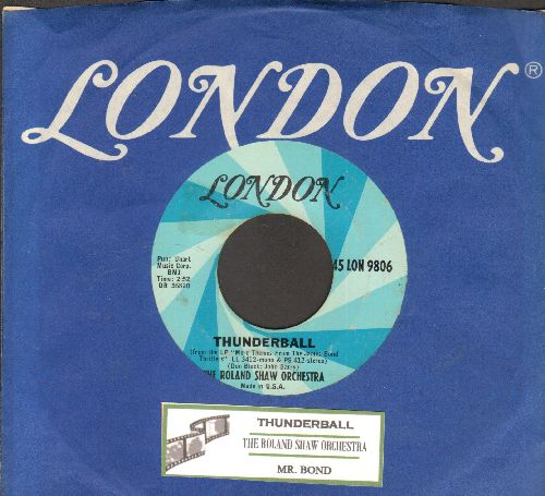 Shaw, Roland Orchestra - Thunderball/Mr. Bond (with juke box label and London company sleeve) - NM9/ - LP Records