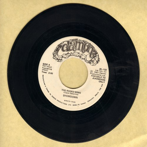 Showdown (Garry Lee) - The Rodeo Song (You Pi*s Me Off!)/Banjo Symphony (DJ advance copy) - EX8/ - 45 rpm Records