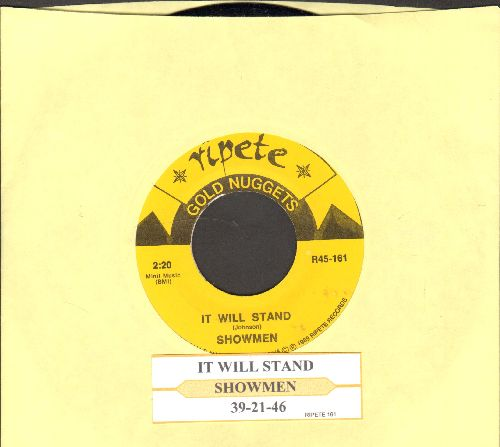 Showmen - 39-21-46/It Will Stand (double-hit reissue with juke box label) - NM9/ - 45 rpm Records