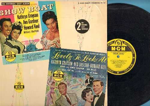 Keel, Howard, Kathryn Grayson, others - Show Boat/Lovely To Look At - 2 Big Original Cast Musicals on 1 vinyl MONO LP record, yellow label first pressing. - EX8/EX8 - LP Records