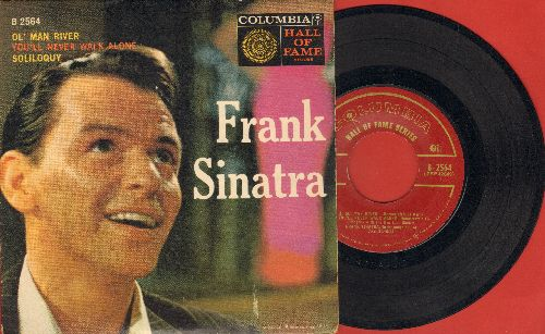 Sinatra, Frank - Ol' Man River/You'll Never Walk Alone/Soliloquy (vinyl EP record with picture cover) - EX8/EX8 - 45 rpm Records