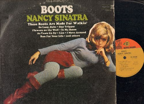 Sinatra, Nancy - Boots: Day Tripper, Flowers On The Wall, It Ain't Me Babe, Lies (vinyl STEREO LP record) - EX8/VG7 - LP Records
