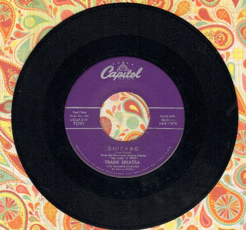 Sinatra, Frank - All The Way/Chicago (purple label first issue) - VG7/ - 45 rpm Records