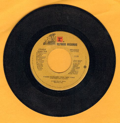 Sinatra, Frank - Theme From New York, New York/That's What God Looks Like To Me - EX8/ - 45 rpm Records