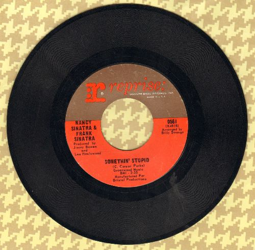 Sinatra, Nancy & Frank - Something Stupid/Give Her Love  - NM9/ - 45 rpm Records