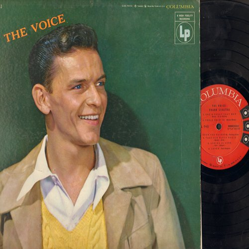 Sinatra, Frank - The Voice: Over The Rainbow, Fools Rush In, That Old Black Magic, Spring Is Here (Vinyl MONO LP record) - EX8/VG7 - LP Records