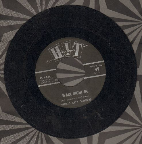 Music City Singers - Walk Right In/From A Jack To A King (contemporary cover versions) - EX8/ - 45 rpm Records