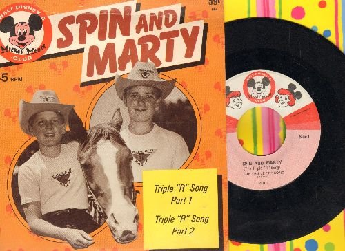 Disney - Spin And Marty - Triple 'R' Song (Parts 1 + 2) (with picture cover) - EX8/EX8 - 45 rpm Records