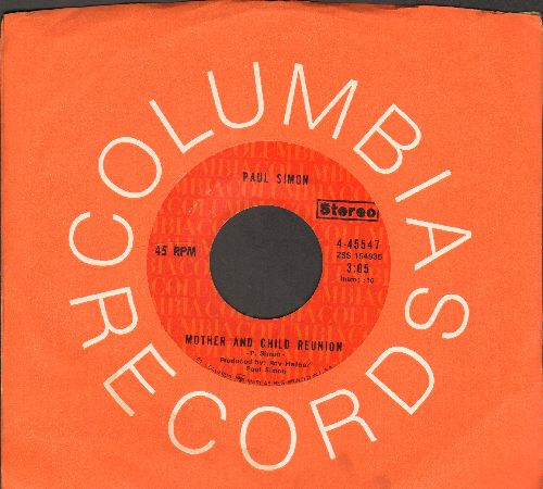 Simon, Paul - Mother And Child Reunion/Paranoia Blues (with Columbia company sleeve) - NM9/ - 45 rpm Records