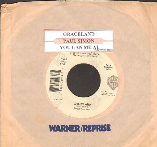 Simon, Paul - Graceland/You Can Call Me Al (double-hit re-issue with juke box label and company sleeve) - NM9/ - 45 rpm Records