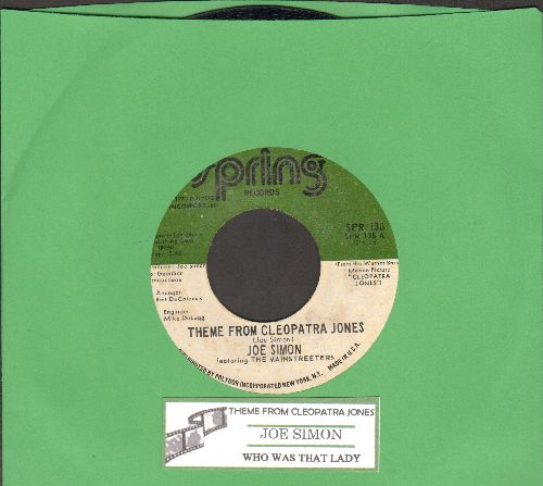Simon, Joe - Theme From Cleopatra Jones/Who Was That Lady (with juke box label) - EX8/ - 45 rpm Records