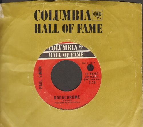 Simon, Paul - Kodachrome/Love Me Like A Rock (double-hit re-issue with Columbia company sleeve) - EX8/ - 45 rpm Records