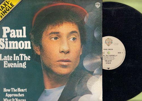 Simon, Paul - Late In The Evening/How The Heart Approaches What It Yearns (12 inch vinyl Maxi Single with picture cover, German Pressing) - NM9/EX8 - Maxi Singles