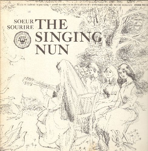 Singing Nun - The Singing Nun: Vinyl LP record Includes the hit Dominique and others, as well as lyrics + translations. Also included are RARE color portfolio of illustratios. - NM9/NM9 - LP Records