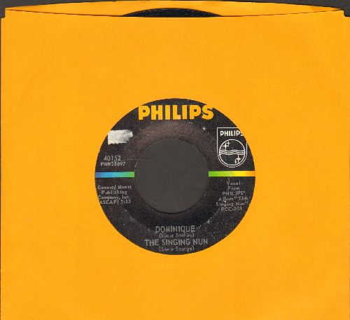 Singing Nun - Dominique/Entre Les Etoiles (US Pressing sung in French) - EX8/ - 45 rpm Records