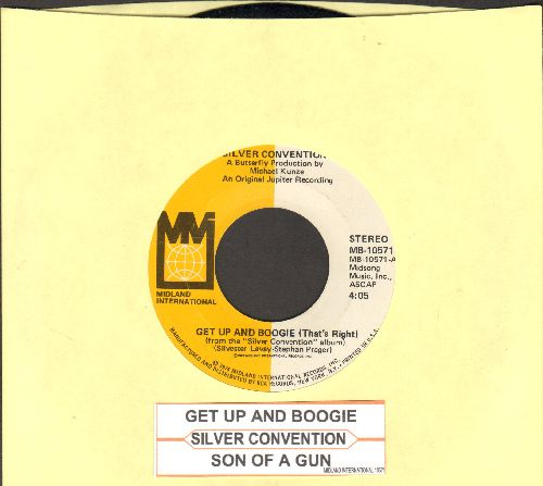 Silver Convention - Get Up And Boogie/Son Of A Gun (Disco-Club hit - follow-up to Fly Robin Fly) (with juke box label) - EX8/ - 45 rpm Records