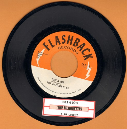 Silhouettes - Get A Job/I Am Lonely (re-issue with juke box label) - NM9/ - 45 rpm Records