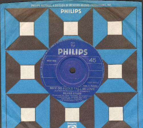 Silver Studs - Dance With A Dolly (With A Hole In Her Stockin')/Why Do Fools Fall In Love (Australian Pressing with Philips company sleeve, small spindle hole) - NM9/ - 45 rpm Records