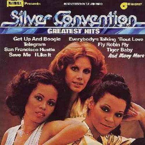 Silver Convention - Greatest Hits: Save Me, Fly Robin Fly, Get Up And Boogie, Telegram, San Francisco Hustle, Tiger Baby, There's Always Another Girl (Vinyl STEREO LP record) - NM9/NM9 - LP Records