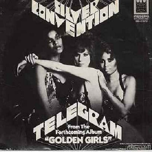 Silver Convention - Telegram (Germany's Entry to GRAND PRIX D'EUROVISION 1977)/Midnight Lady (with picture sleeve) - M10/EX8 - 45 rpm Records
