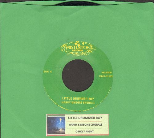 Simeone, Harry Chorale - The Little Drummer Boy/O Holy Night (with juke box label) - EX8/ - 45 rpm Records