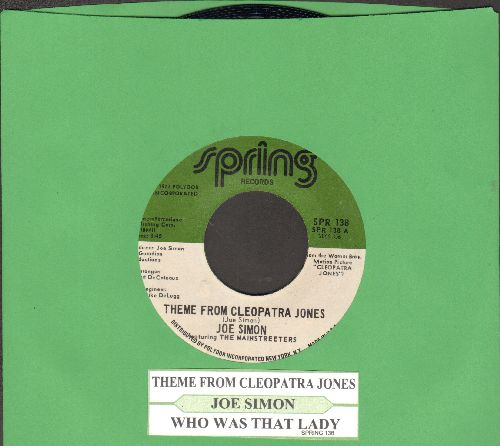 Simon, Joe - Theme From Cleopatra Jones/Who Was That Lady (with juke box label) - NM9/ - 45 rpm Records