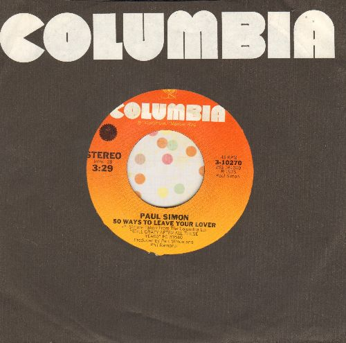 Simon, Paul - 50 Ways To Leave Your Lover/Some Folks Lives Roll Easy (with Columbia company sleeve) - VG7/ - 45 rpm Records