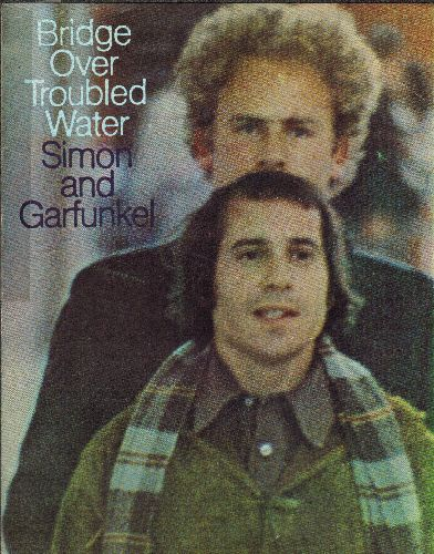 Simon & Garfunkel - Bridge Over Troubled Water - Vintage SHEET MUSIC for the GRAMMY WINNER - BEST SONG 1966, NICE cover art of the legendary singing Duo! - EX8/ - Sheet Music
