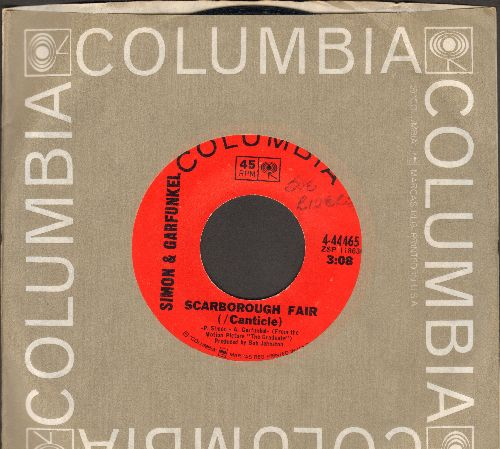 Simon & Garfunkel - Scarborough Fair/April Come She Will (with Columbia company sleeve) (minor wol) - EX8/ - 45 rpm Records