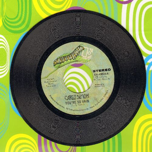 Simon, Carly - You're So Vain/His Friends Are More Than Fond Of Robin - EX8/ - 45 rpm Records