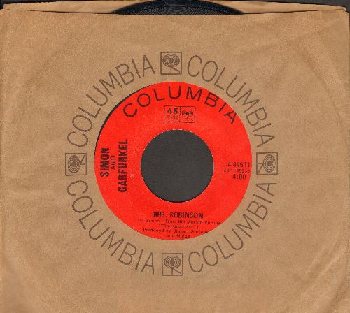 Simon & Garfunkel - Mrs. Robinson/Old Friends/Bookends (with Columbia company sleeve) - EX8/ - 45 rpm Records