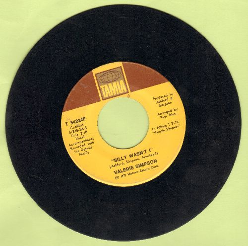 Simpson, Valerie - Silly Wasn't I/I Believe I'm Gonna Take This Ride - VG7/ - 45 rpm Records