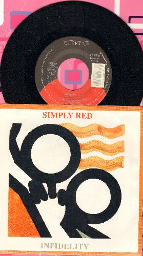 Simply Red - Infidelity/Lady Godiva's Room (with picture sleeve) - NM9/EX8 - 45 rpm Records