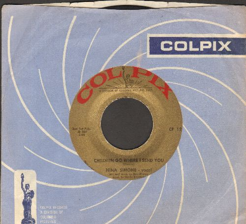 Simone, Nina - Children Go Where I Send You/Willow Weep For Me (with vintage Colpix company sleeve) - EX8/ - 45 rpm Records