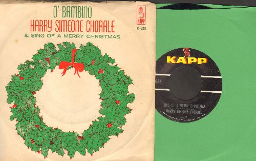 Simeone, Harry Chorale - Sing Of A Merry Christmas/O'Bambino (with picture sleeve) - EX8/VG7 - 45 rpm Records