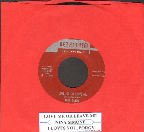 Simone, Nina - Love Me Or Leave Me/I Love You, Porgy (with juke box label) - EX8/ - 45 rpm Records
