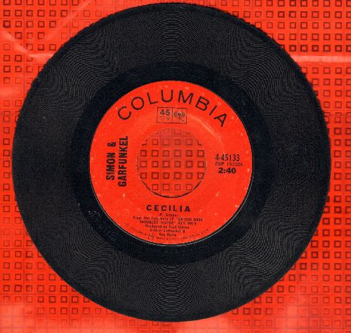 Simon & Garfunkel - Cecilia/The Only Living Boy In New York  - EX8/ - 45 rpm Records