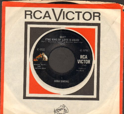 Simone, Nina - Why? (The King Of Love Is Dead) (Parts 1 + 2) (with RCA company sleeve) - EX8/ - 45 rpm Records