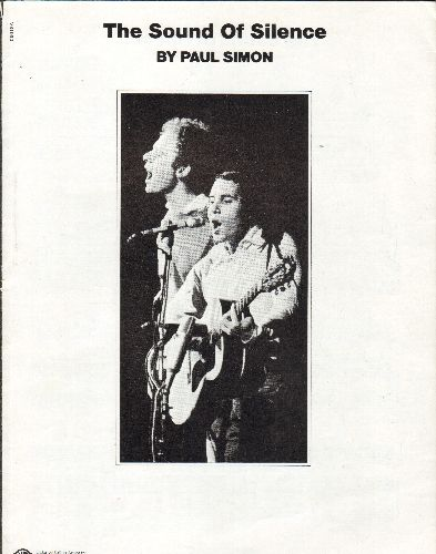 Simon & Garfunkel - The Sound Of Silence - SHEET MUSIC for the Classic Simon & Darfunkel Ballad. - EX8/ - Sheet Music