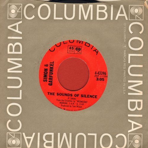 Simon & Garfunkel - The Sounds Of Silence/We've Got A Groovy Thing Goin' (first issue with Columbia company sleeve) - VG7/ - 45 rpm Records