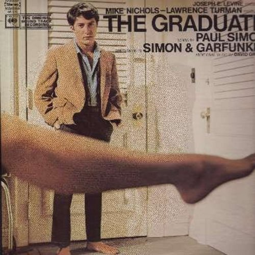 Simon & Garfunkel - The Graduate - Original Motion Picture Sound Track, includes the hits Sounds Of Silence and Mrs. Robinson (Vinyl STEREO LP record) - EX8/VG7 - LP Records