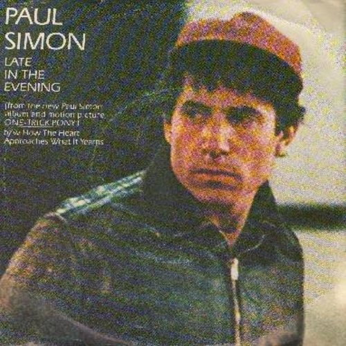Simon, Paul - Late In The Evening/How The Heart Approcahes What It Yearns (with picture sleeve) - NM9/VG7 - 45 rpm Records