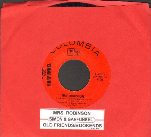 Simon & Garfunkel - Mrs. Robinson/Old Friends/Bookends (with juke box label) - EX8/ - 45 rpm Records