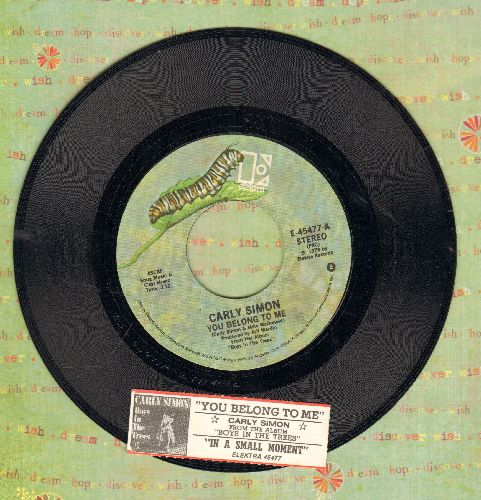 Simon, Carly - You Belong To Me/In A Small Moment (with juke box label) - NM9/ - 45 rpm Records