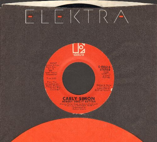 Simon, Carly - Nobody Does It Better/After The Storm (with Elektra company sleeve) - EX8/ - 45 rpm Records