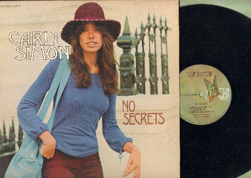 Simon, Carly - No Secrets: You're So Vain, The Right Thing To Do, The Carter Family, It was So easy (Vinyl STEREO LP record) - VG7/EX8 - LP Records