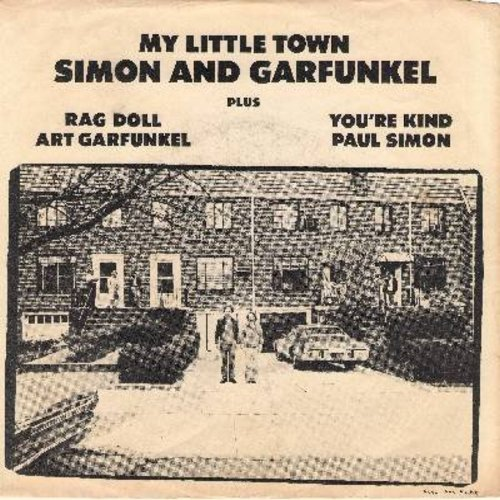 Simon & Garfunkel - My Little Town/Rag Doll/You're Kind (with picture sleeve) - NM9/EX8 - 45 rpm Records