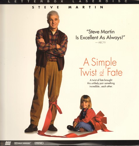 A Simple Twist Of Faith - A Simple Twist Of Fate - Letter Box LASER DISC version fo the Hollywood adaptation of the Voctorian Literary Classic -Silas Marner- starring Steve Martin (This is a LASER DISC, not any other kind of media!) - NM9/NM9 - Laser Disc